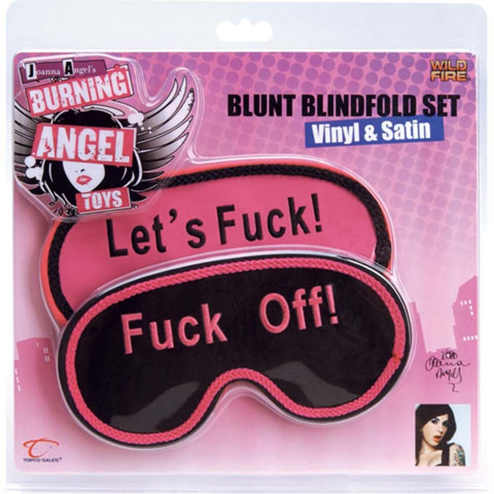 Burning Angel Blunt Blindfold Set Vinyl and Satin RbDV - View #2