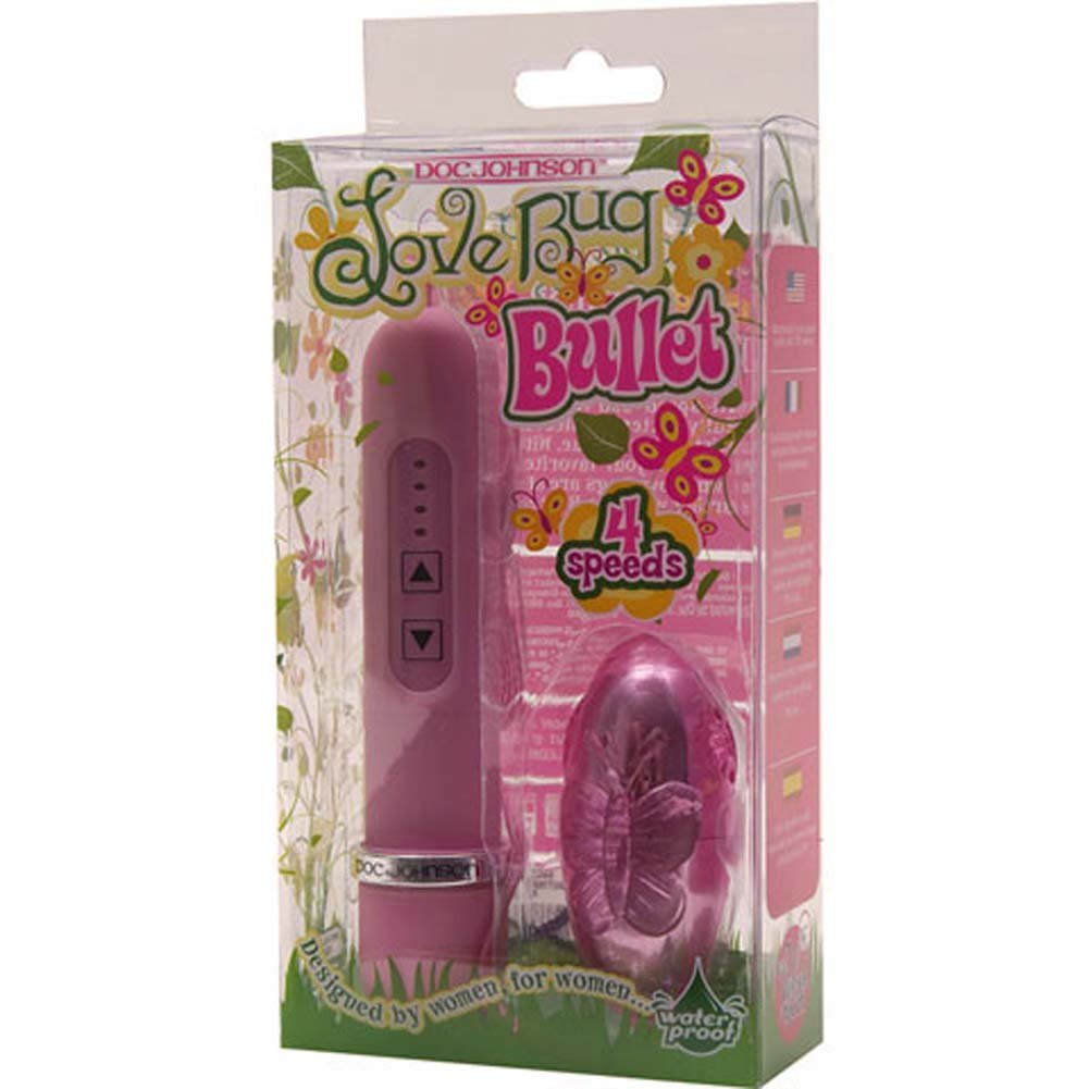 Love Bug Butterfly Waterproof Vibrating Bullet Lavender - View #2