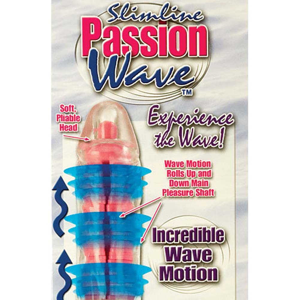 Slimline Passion Wave Waterproof Vibe Pink 9.5 In. - View #3