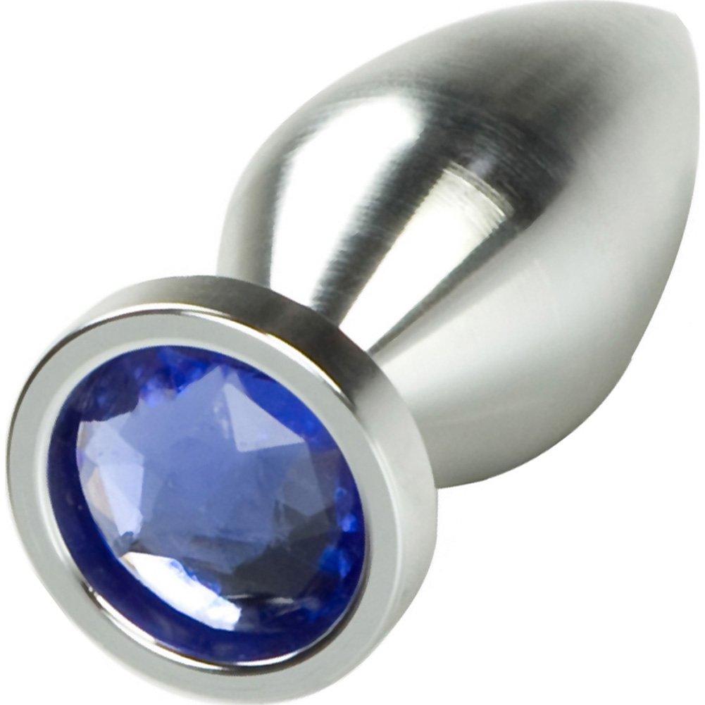 "California Exotics Aluminum Mini Butt Plug 3.25"" Silver - View #2"