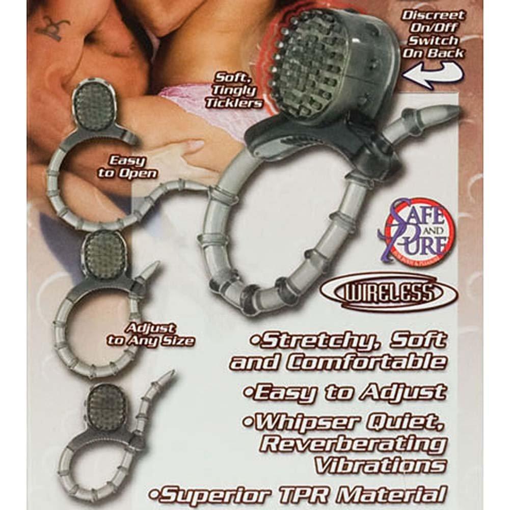 Vibrating Wireless Cinch Ring Smoke - View #1