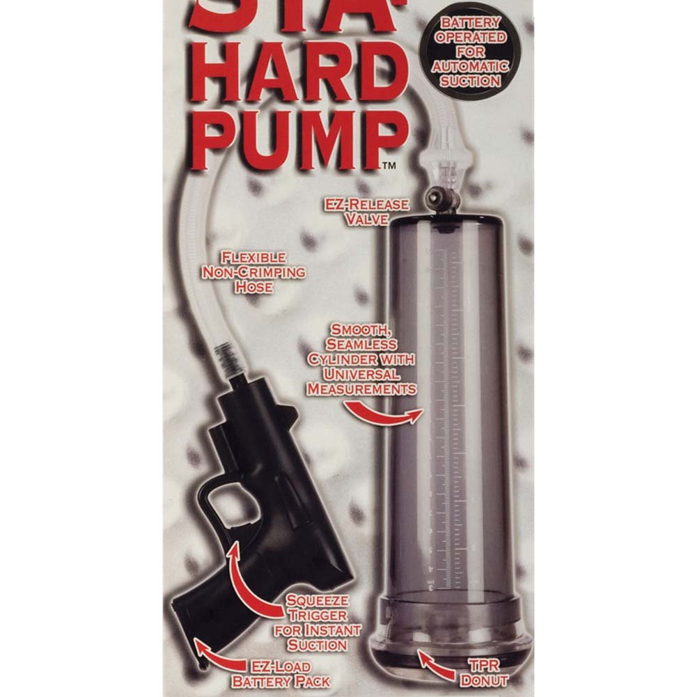 Automatic Sta Hard Vibrating Pump for Men Clear - View #1
