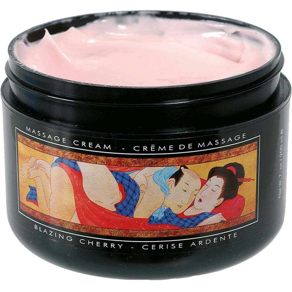 Shunga Soft Moves Massage Cream Blazing Cherry 7 Fl. Oz. - View #1