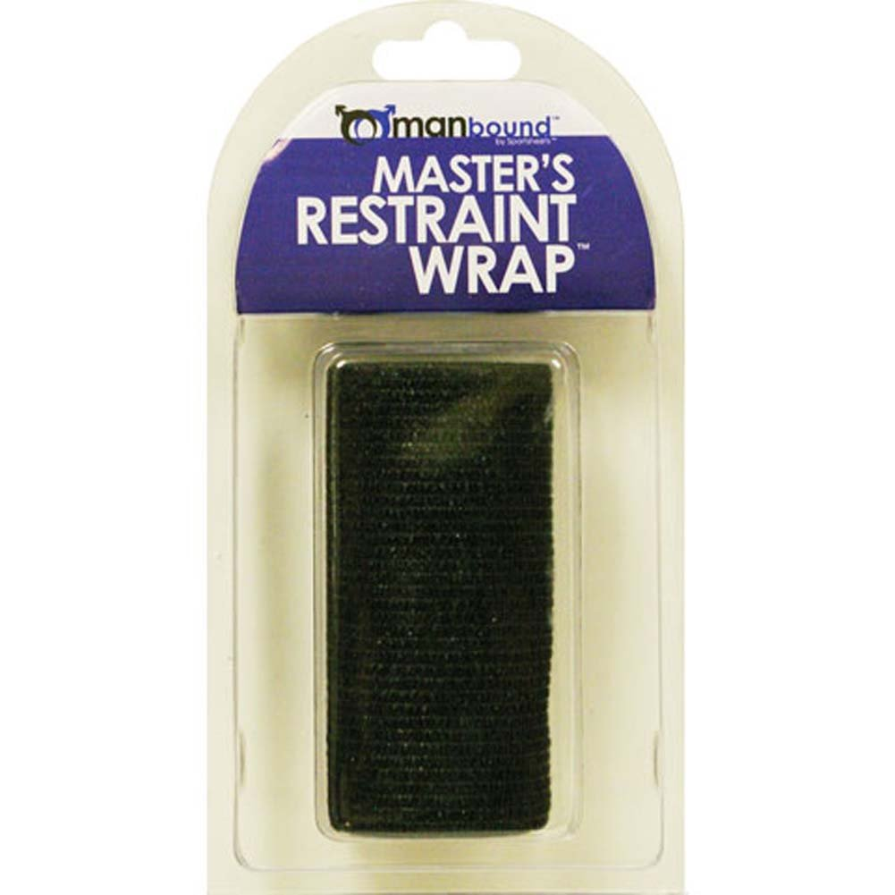"ManBound Masters Restraint Wrap 4"" Black - View #2"