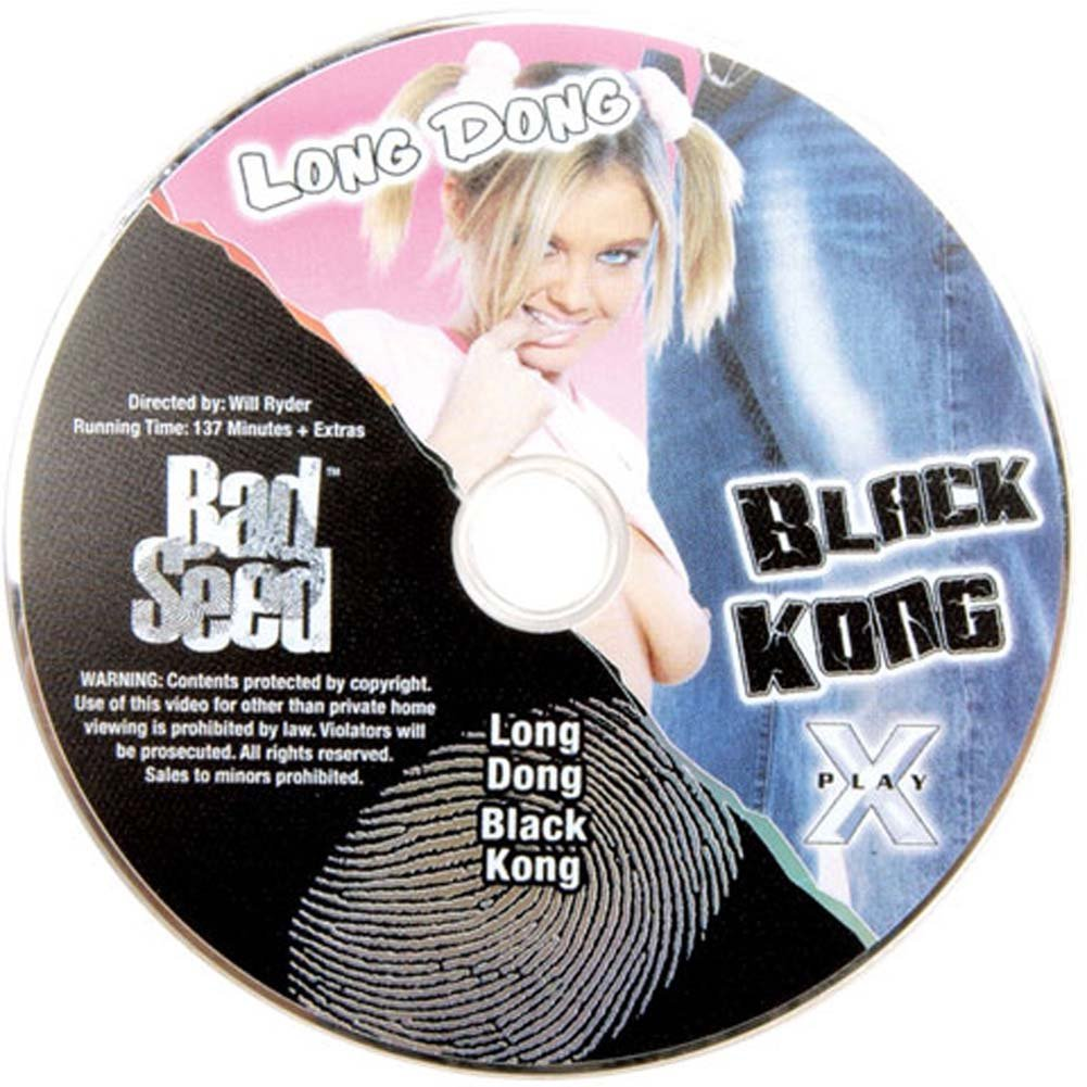 "Bad Seed Kong Sized Waterproof Ebony Dong 9.5"" with DVD - View #2"