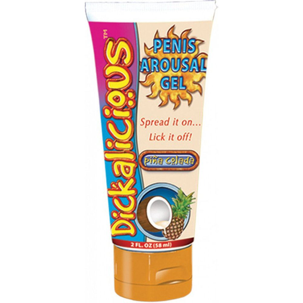 Dickalicious Penis Arousal Gel 2 Fl.Oz 58 mL Pina Colada - View #1