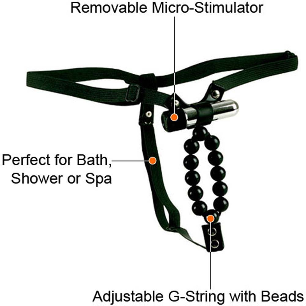 Lovers Thong with Waterproof Vibrating Stroker Beads RbDV - View #1