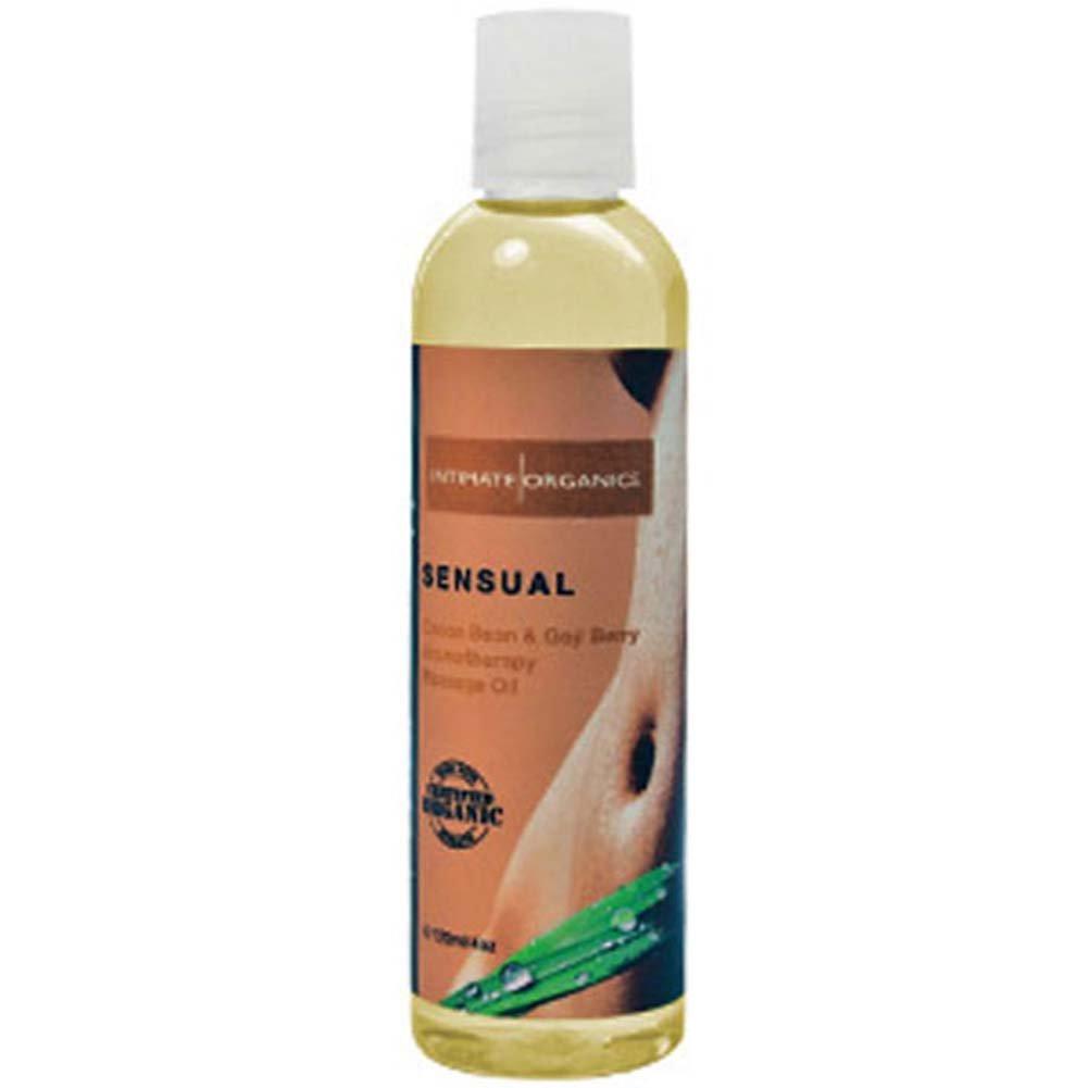 Intimate Organics Sensual Massage Oil 4 Fl.Oz Cocoa Bean Goji Berry - View #1