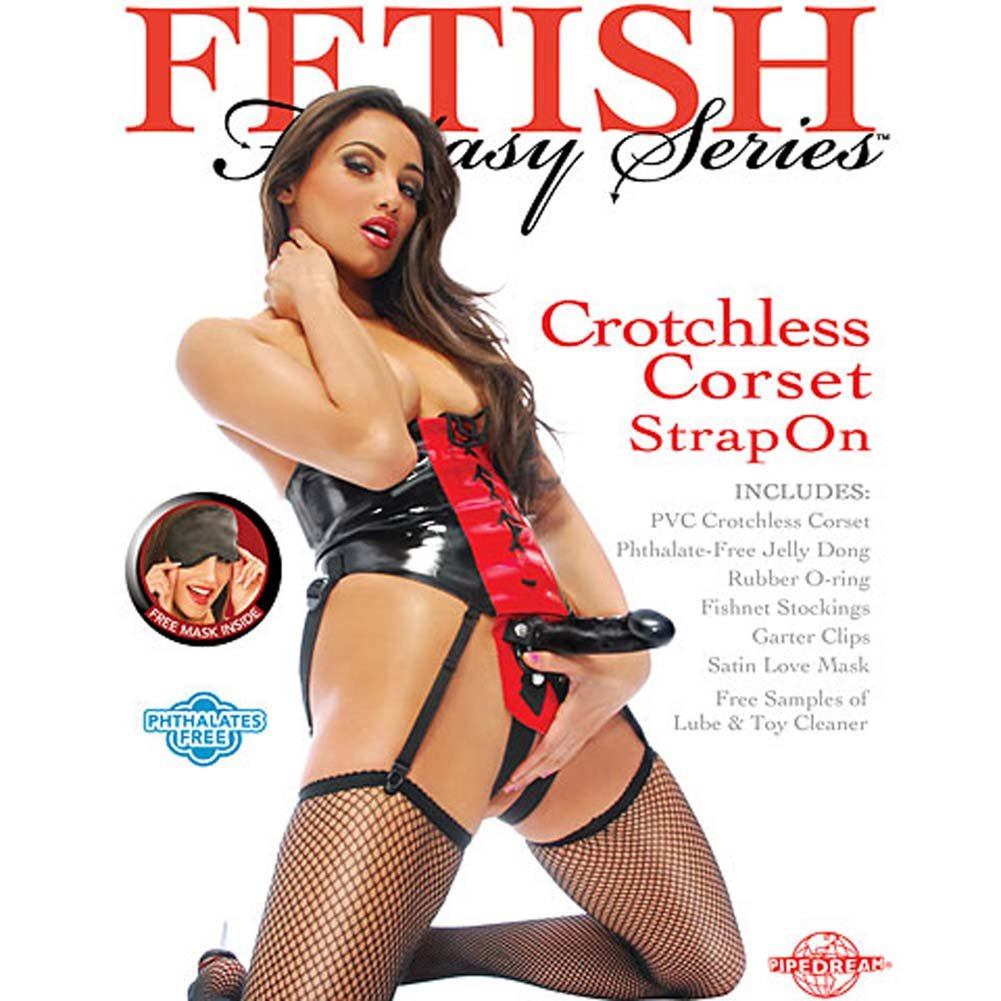 "Fetish Fantasy Crotchless Corset Strap-On with 6.5"" Dong - View #4"