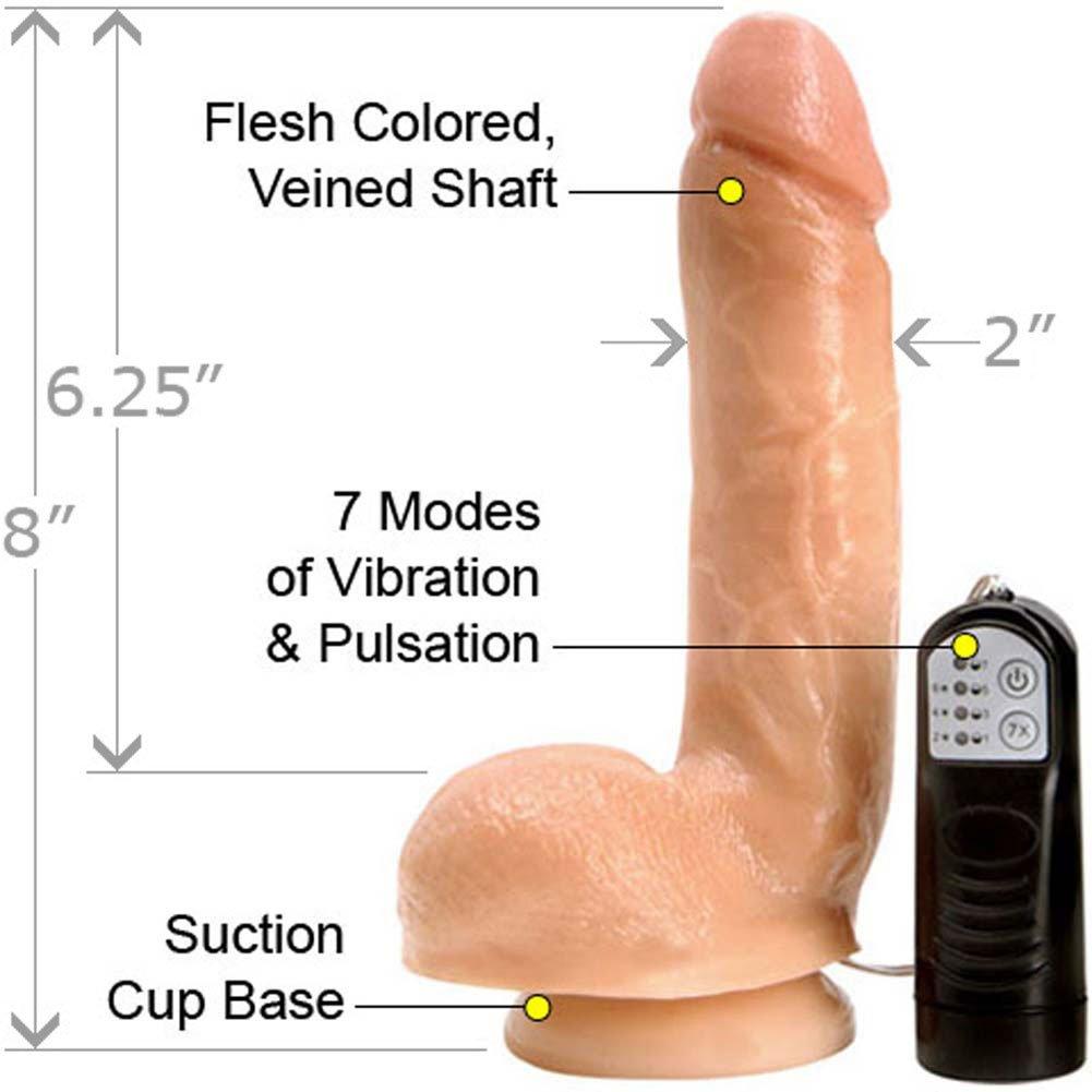 "Adams Cock Waterproof 7X Vibrating Cock 8"" Natural - View #1"