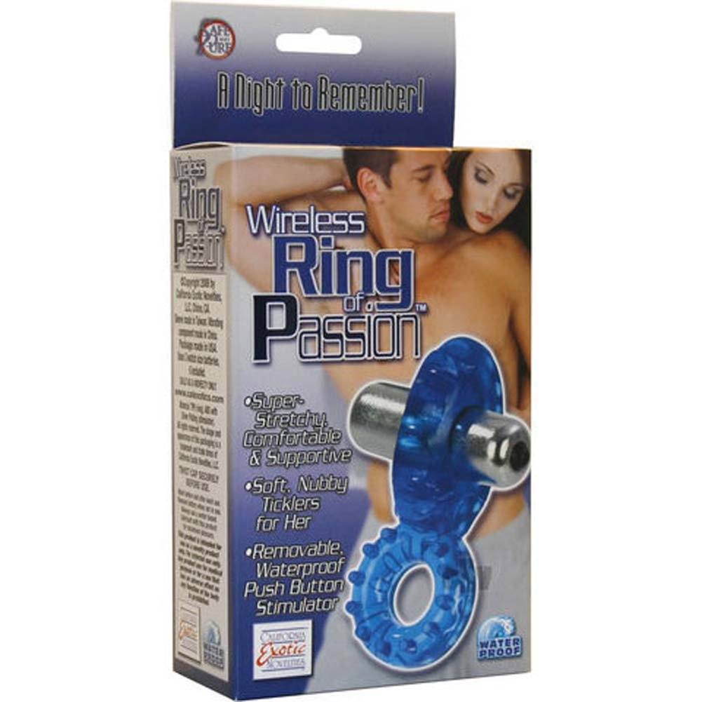 California Exotics Cordless Waterproof Ring of Passion Blue - View #4