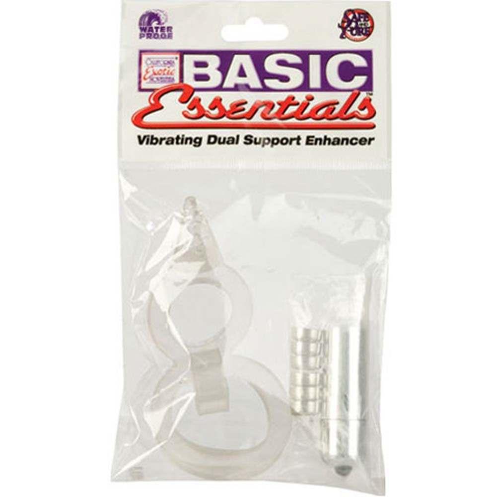 Basic Essentials Waterproof Vibrating Dual Support Enhancer Clear - View #4