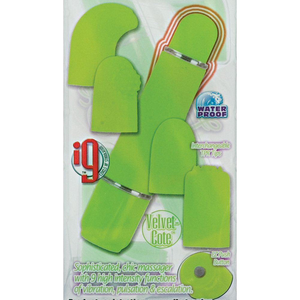 California Exotics Love Vibe Number 9 Kit with 3 Interchangeable Tips Green - View #1