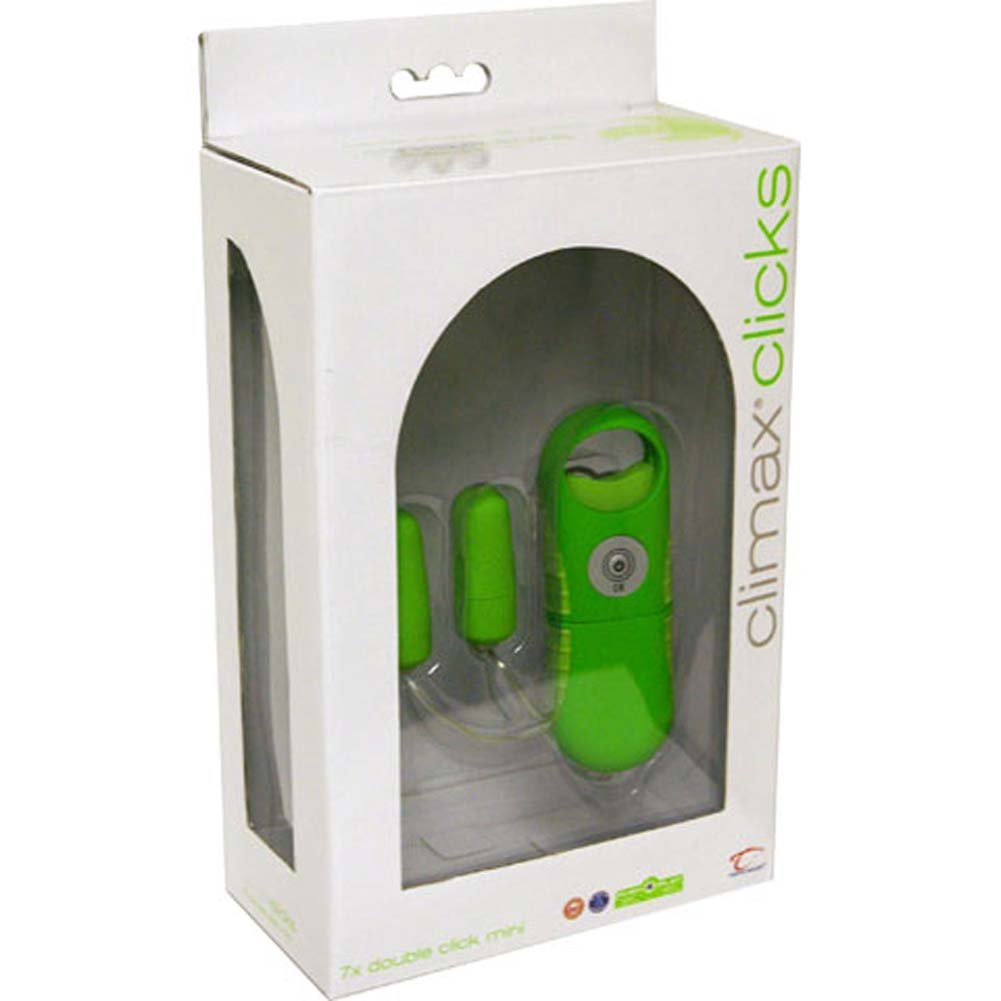 Climax Clicks 7 Function Waterproof Vibrator Lime Green - View #3
