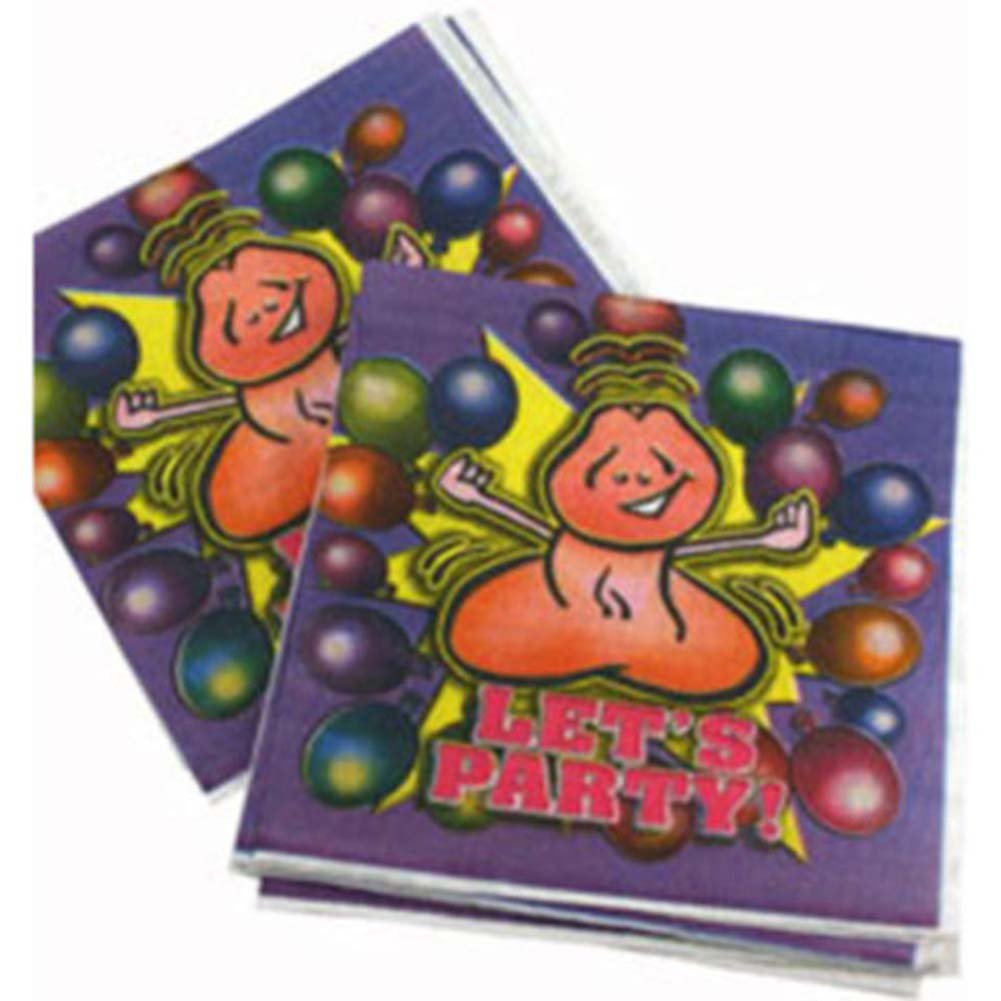 Lets Party 8 Happy Penis Party Napkins - View #2