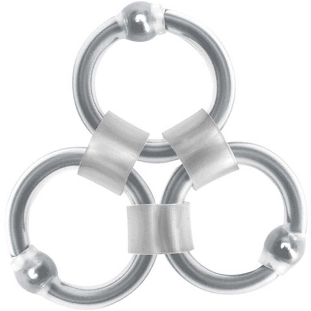 Rascal Tri Master Silicone Cock Ring with Ball Rings RbDV - View #2