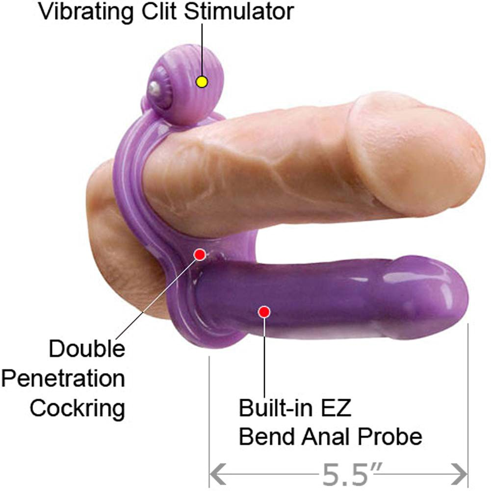 "My First Double Penetrator Waterproof 5.5"" Lavender - View #1"