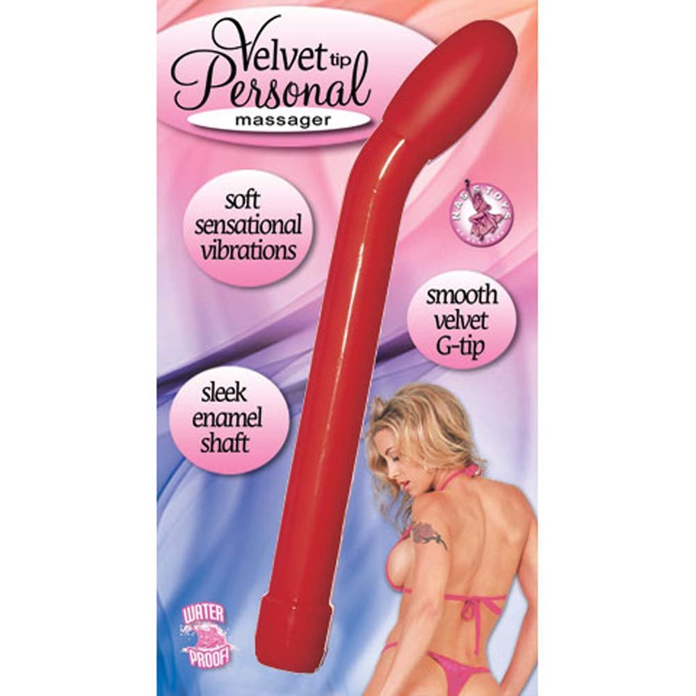 "Velvet Tip Personal Waterproof G-Spot Vibe 7"" Red - View #1"