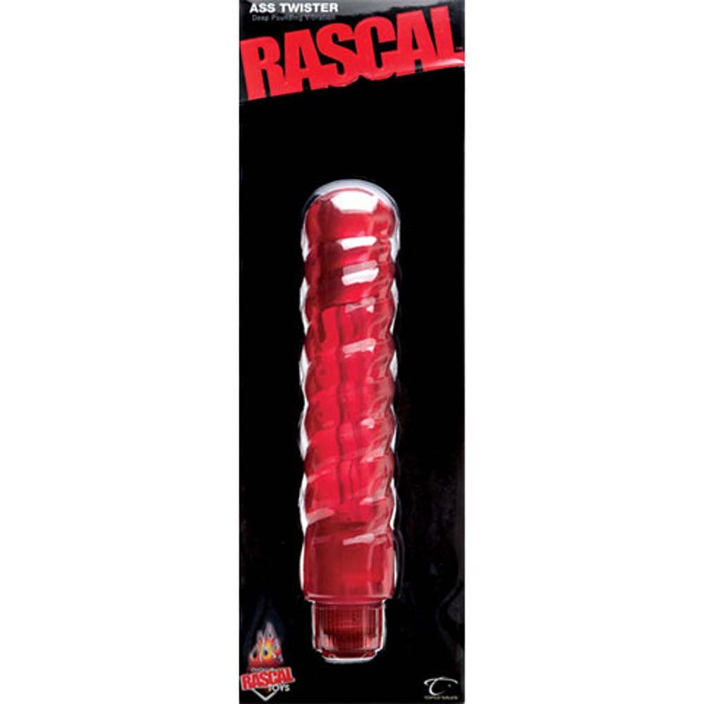 "Rascal Ass Twister Waterproof Anal Vibro Probe 11"" Red. - View #2"
