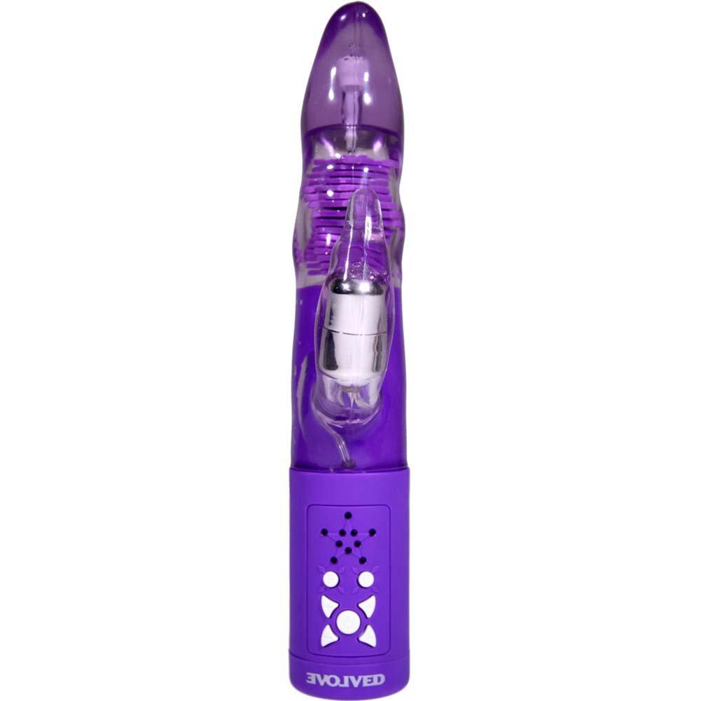 "Dream Maker Nocturnal Emission Premium Rabbit Vibrator 10"" Purple - View #3"