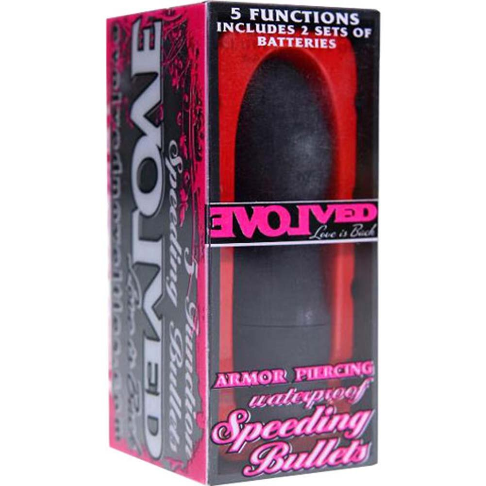Speeding Bullets Armor Piercing Waterproof Vibe Black - View #1
