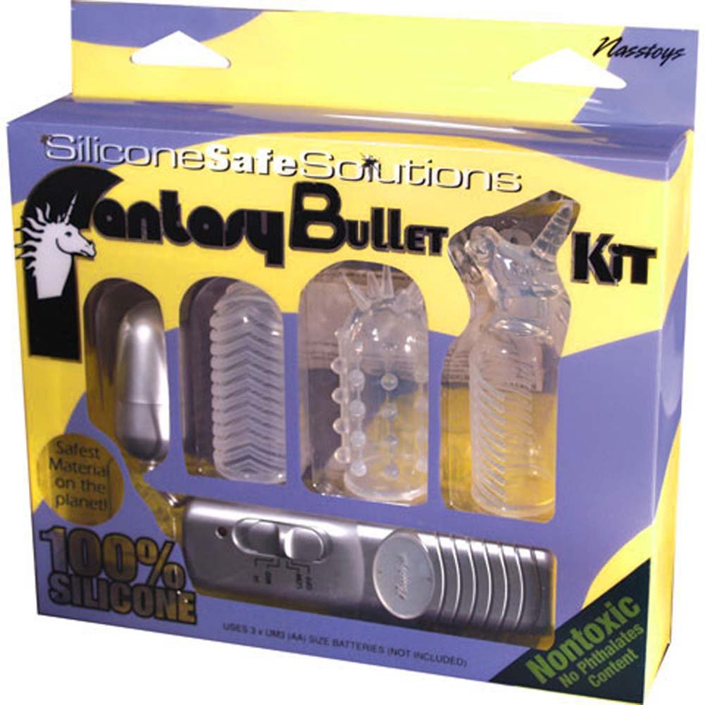 Fantasy Vibrating Bullet Kit with 3 Silicone Sleeves - View #4