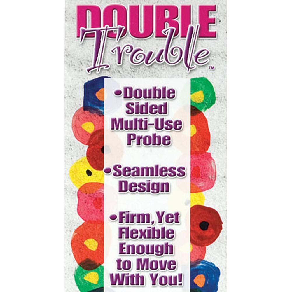 "Double Trouble Bendable Dong 9.75"" Purple - View #2"