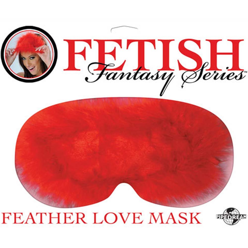 Fetish Fantasy Series Feather Love Mask Red - View #2