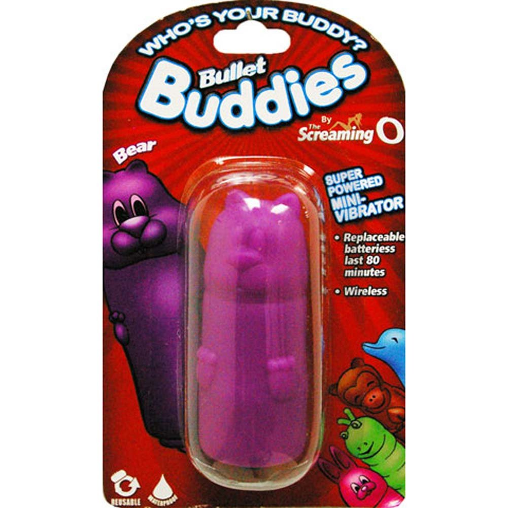 Screaming O Bullet Buddies Bear Waterproof Vibe Purple - View #3