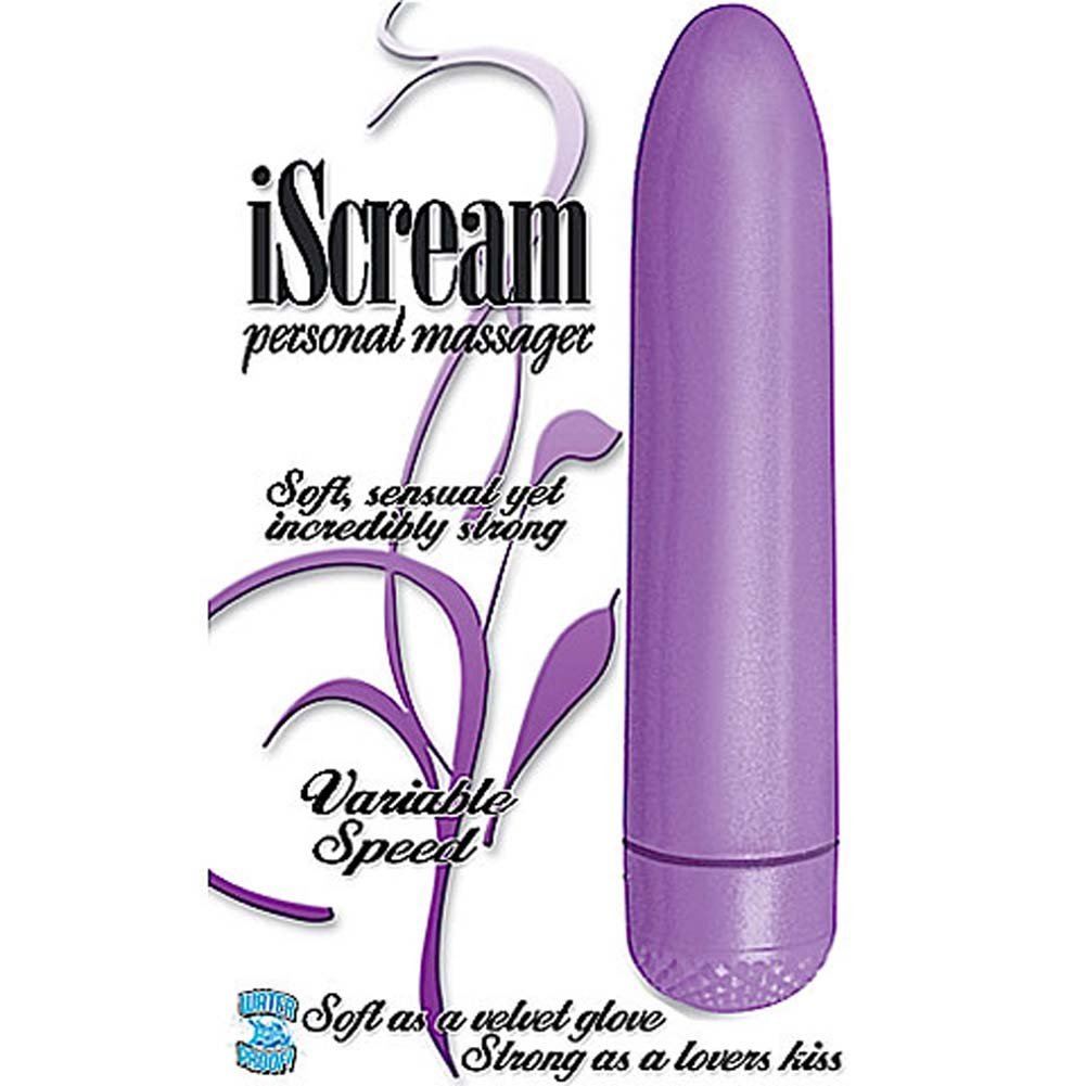 "Velvet Kiss iScream Waterproof Vibe 5.5"" Purple - View #1"