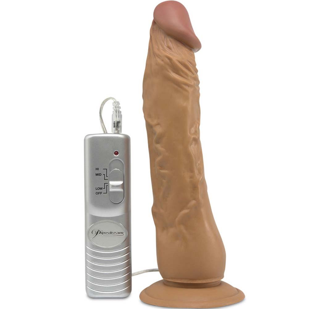 "Latino Lover Vibrating Natural Cock 9"" Cinnamon - View #2"