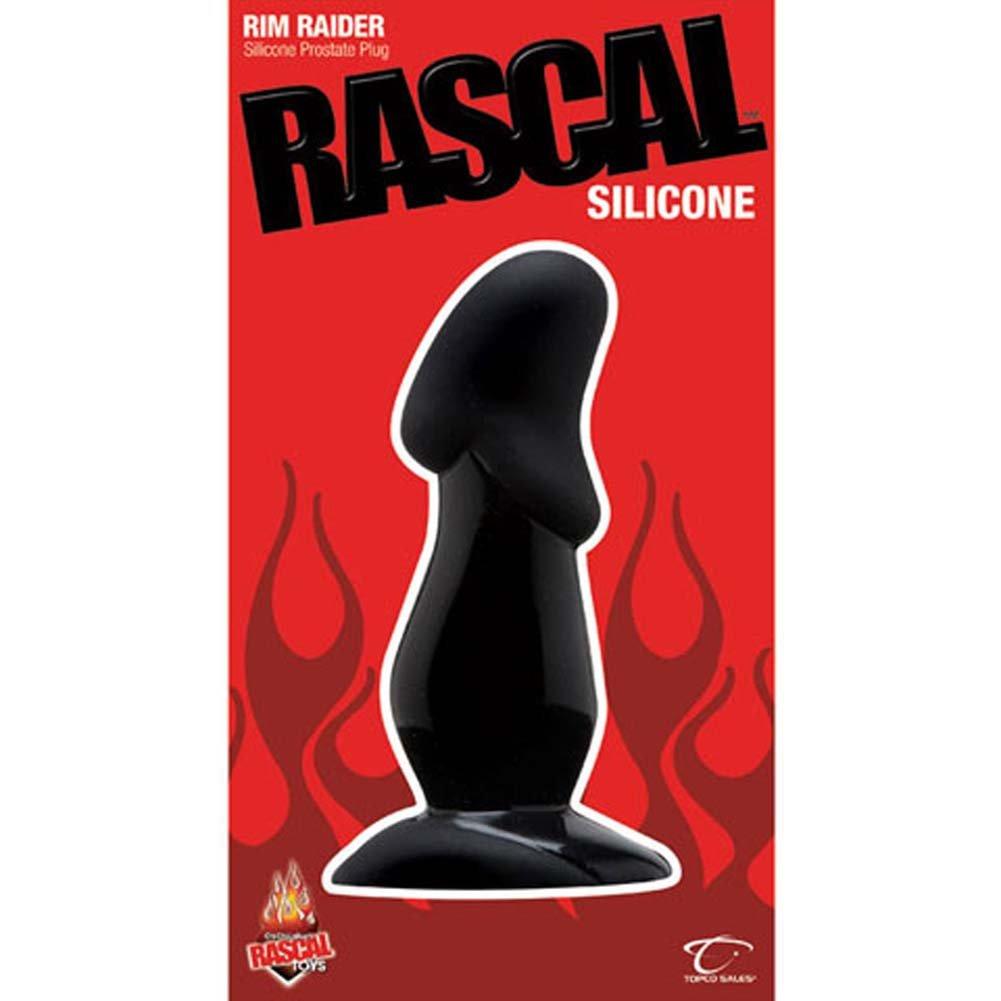 Rascal Toys Rim Raider Silicone Prostate Plug Black - View #2