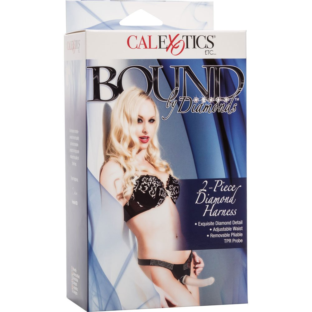"California Exotics Bound by Diamonds Two Piece Diamond Harness Set with 6.5"" Dildo - View #4"