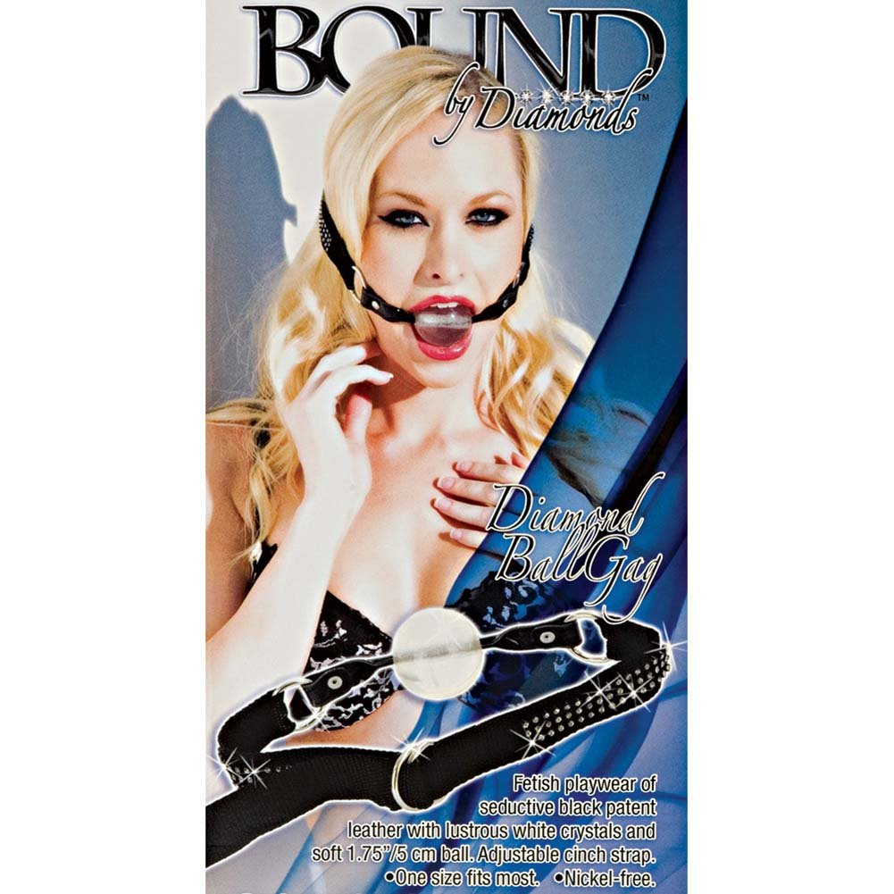California Exotics Bound by Diamonds Diamond Ball Gag Black - View #1