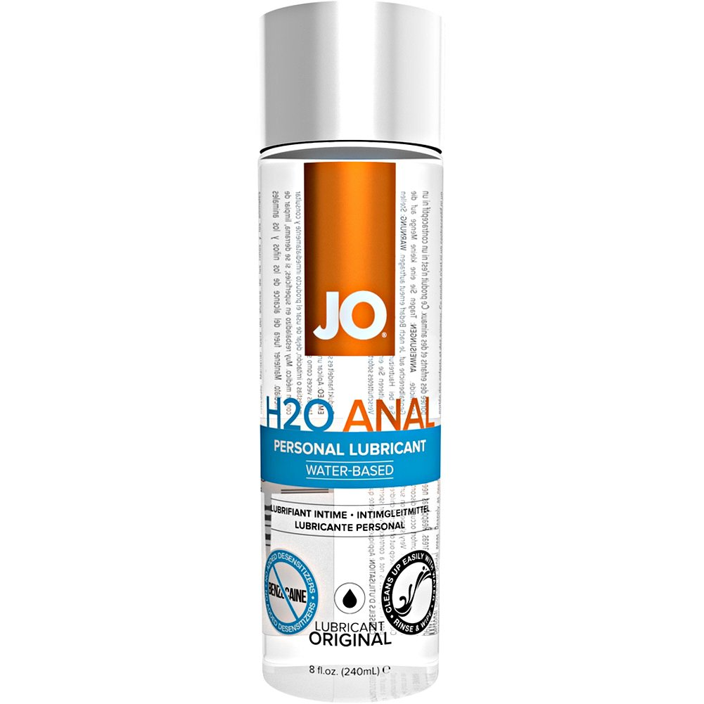 JO H2O Anal Original Water Based Personal Lubricant 8 Fl Oz 240 mL - View #2