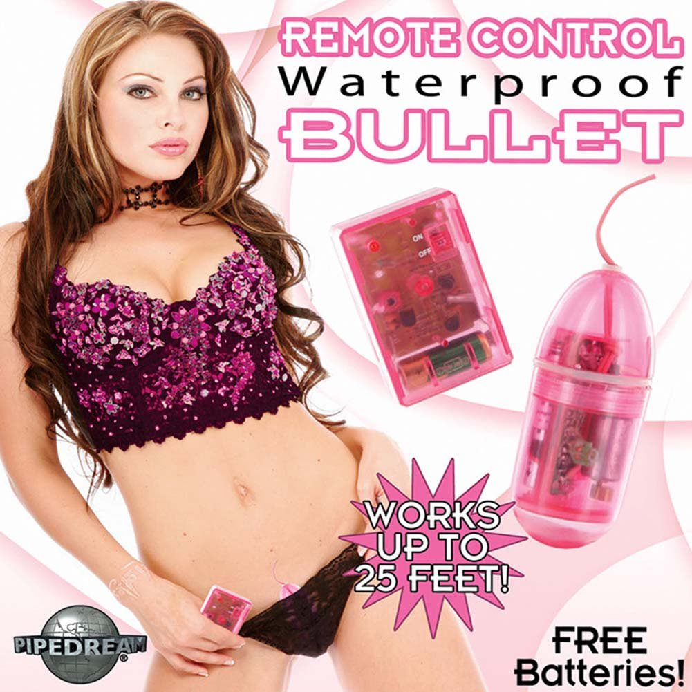Wireless Remote Control Waterproof Bullet Vibrator Pink - View #3