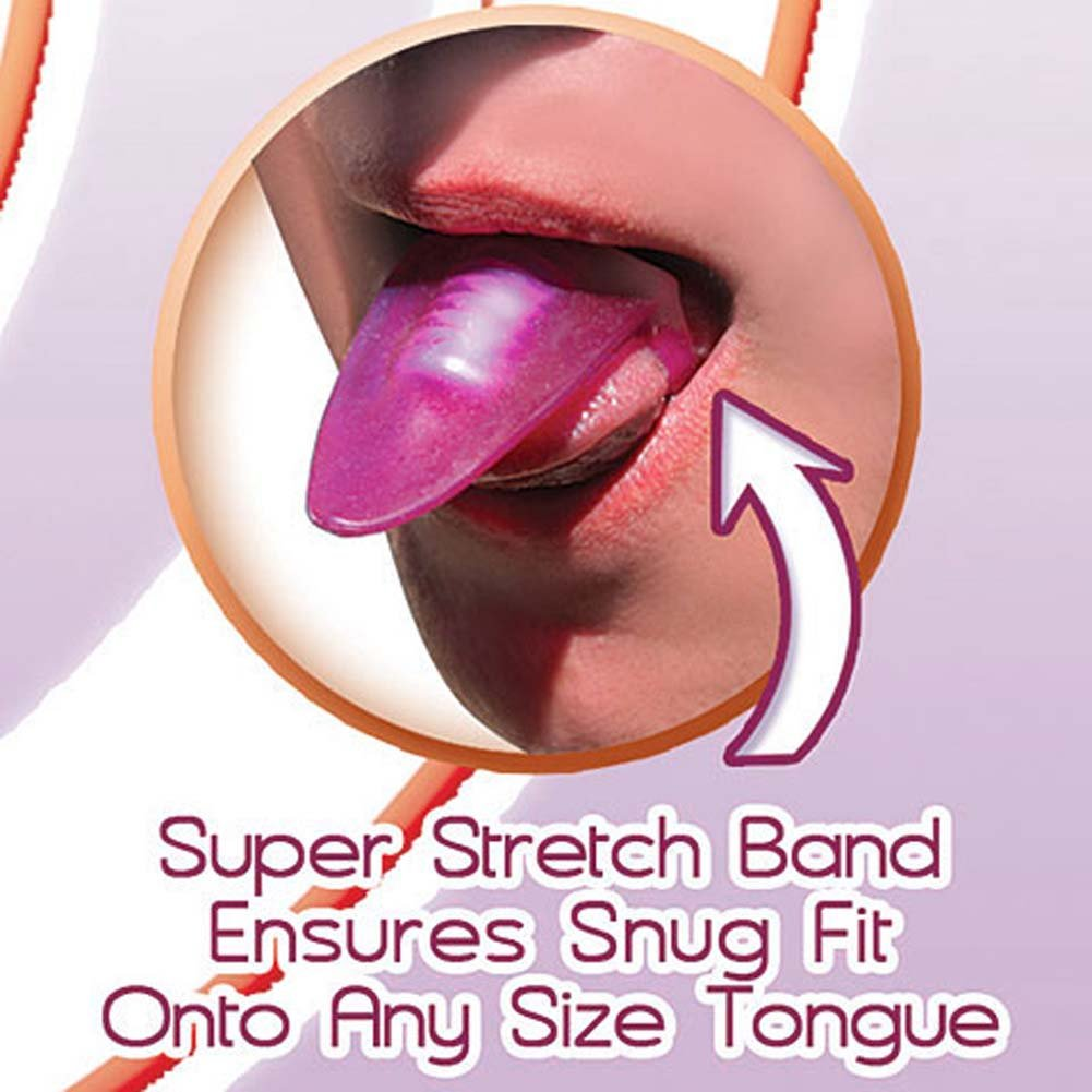 Vibrating Silicone Tongue Teaser Purple - View #3