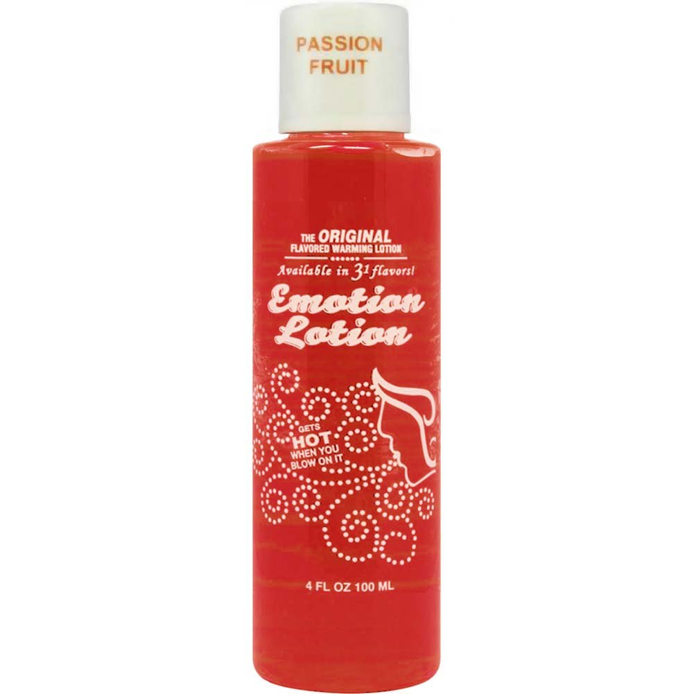 Emotion Lotion Flavored Warming Massage Oil 4 Fl.Oz 120 mL Passion Fruit - View #1