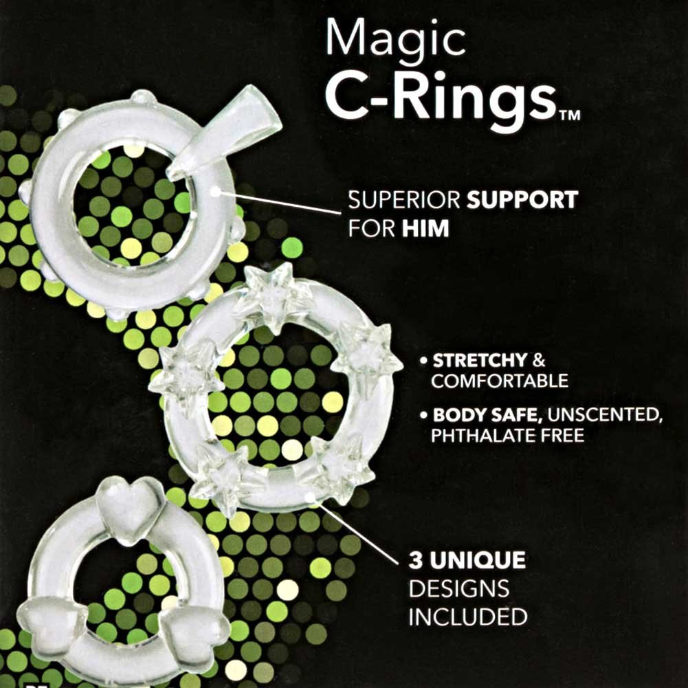 Magic Jelly Rings 3 Pack Clear - View #1