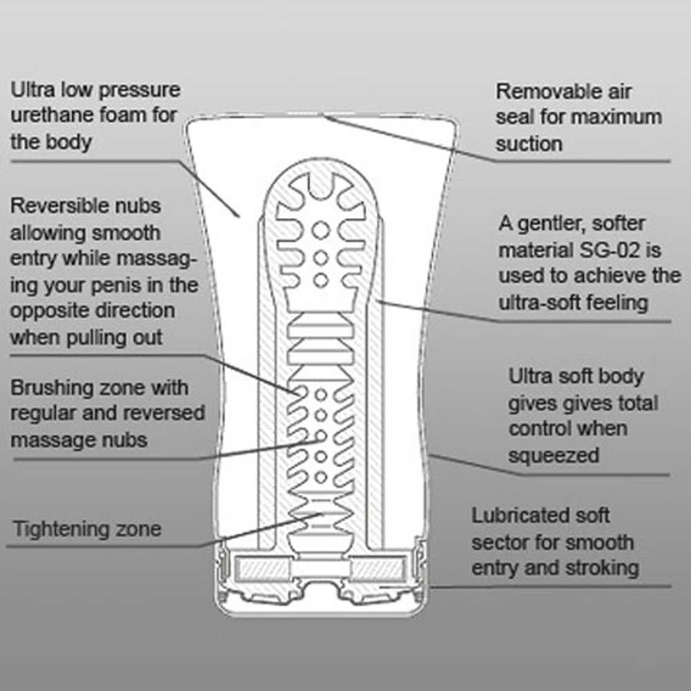 TENGA Soft Tube Cup Masturbator White/Silver - View #2