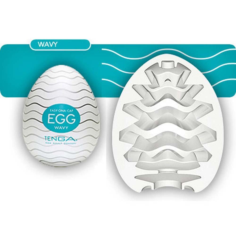 Tenga Egg Portable Silicone Male Masturbator Wavy - View #1