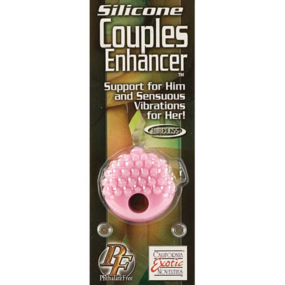 Silicone Couples Enhancer Vibrating Cockring Purple - View #4