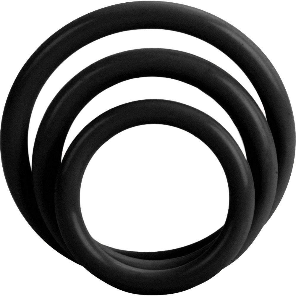 California Exotics Tri Rings Set Black - View #2