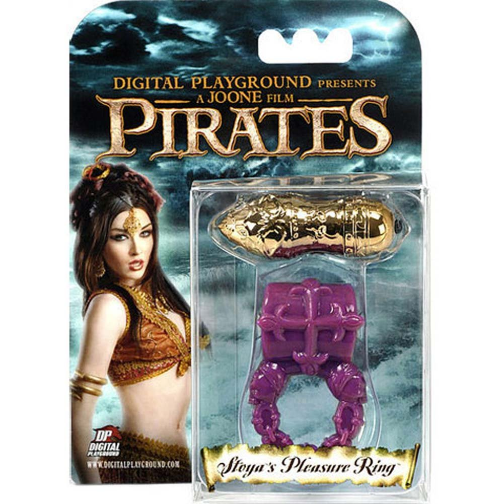 Pirates Stoya Pleasure Cock Ring with Vibrating Bullet Purple/Gold - View #1
