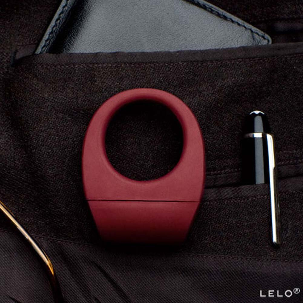Lelo Bo Rechargeable Vibrating Cockring Bordeaux - View #2