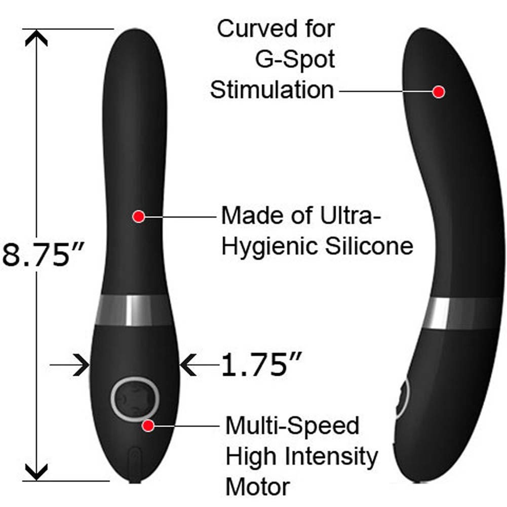 "Lelo Elise G-Spot Rechargeable Silicone Vibe 8.75"" Ebony - View #1"