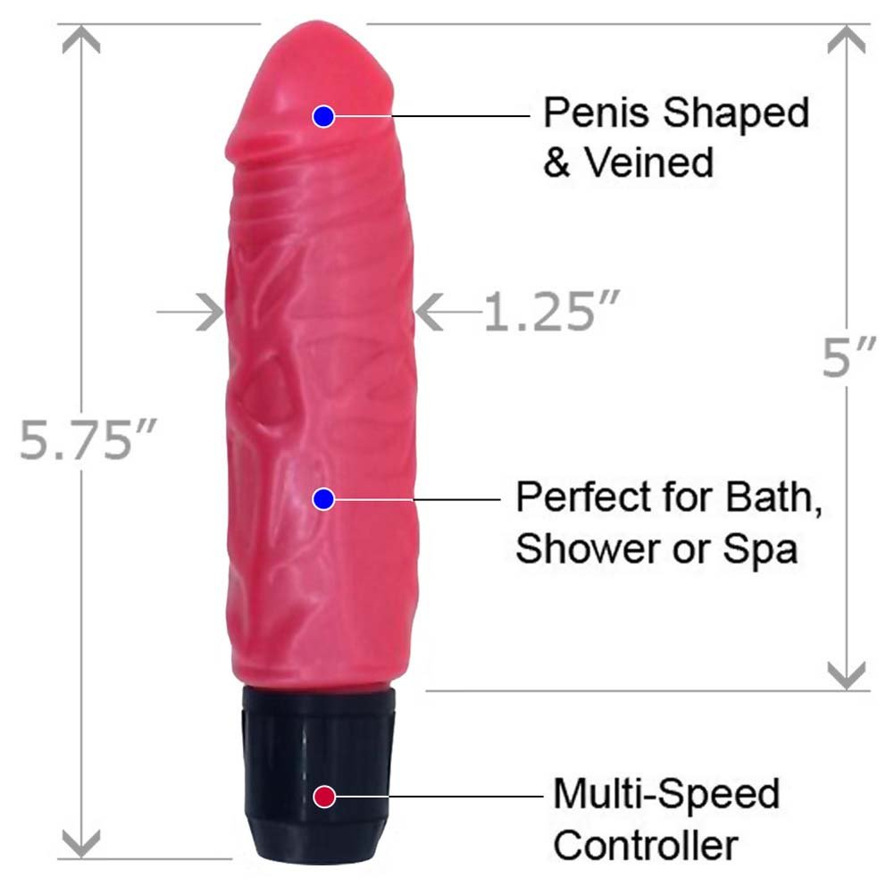 "Pearl Sheen Pearl Shine Peter Vibrator 5.75"" Pink - View #1"