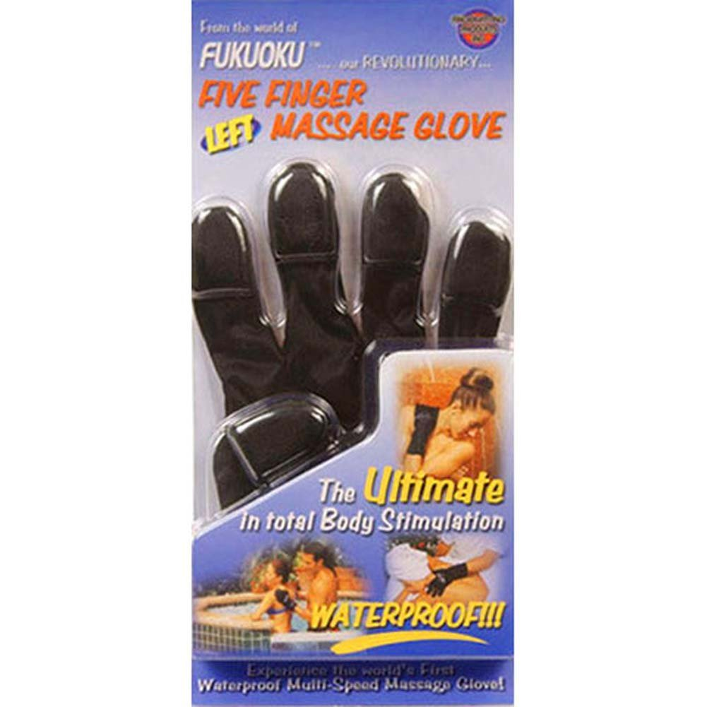 Fukuoku Vibrating Massage Glove Left Handed Black - View #3