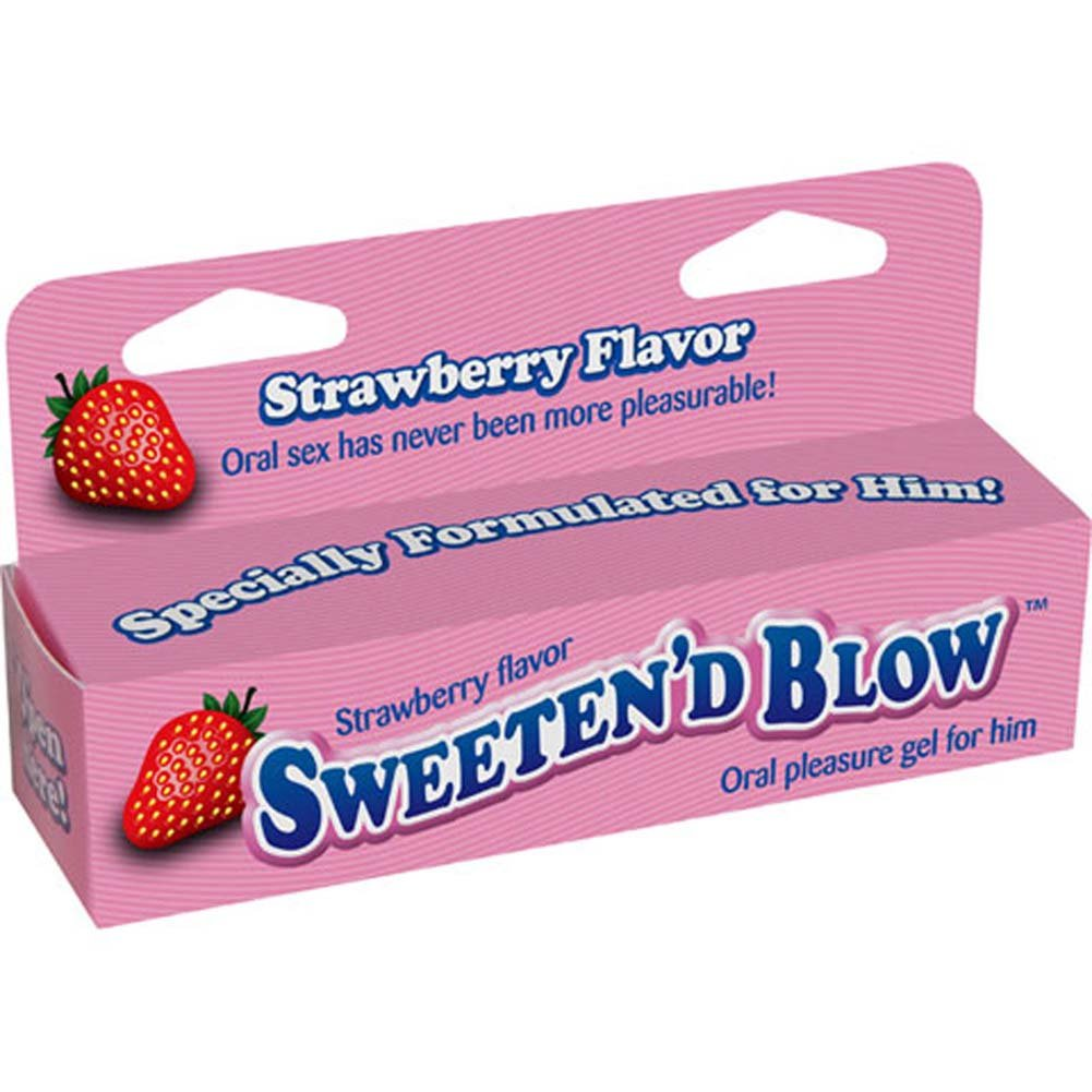 SweetenD Blow Oral Pleasure Gel 1.5 Ounce 45 mL Strawberry - View #1