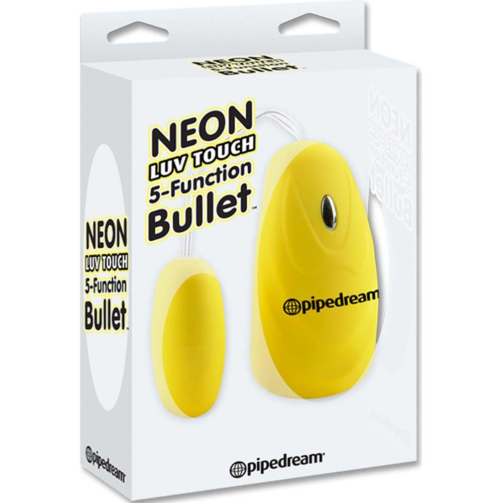 "Neon Luv Touch 5 Function Bullet 2.25"" Yellow - View #1"